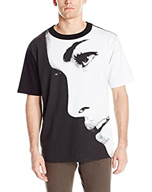 Men's Oversized Face Crew Neck T-Shirt
