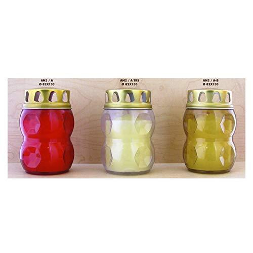Cereria G.Giovanelli 20 Lumini Lamp, Rain Cover Wax Fusa, Red, 82 x 130, Multicoloured, One Size