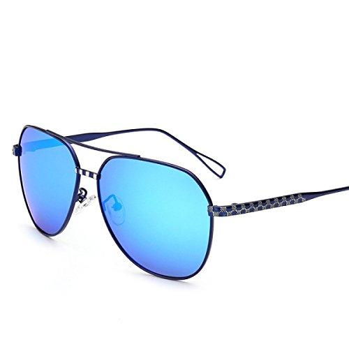 Conducción Grande Gafas De Conducción Color Gafas Señoras Las Grey De Sol De De De Sol La Conductor Marco Blue Sol Marco Gafas Gafas De Polarizador De Película Grande Yurt De wxpqX8U