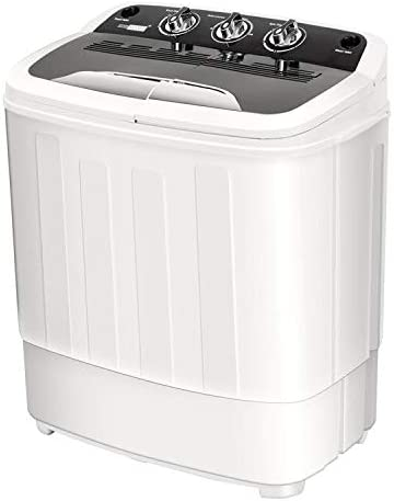 Amazon Com Vivohome Electric Portable 2 In 1 Twin Tub Mini Laundry Washer And Spin Dryer Combo Washing Machine With Drain Hose For Apartments 13lbs Capacity Appliances