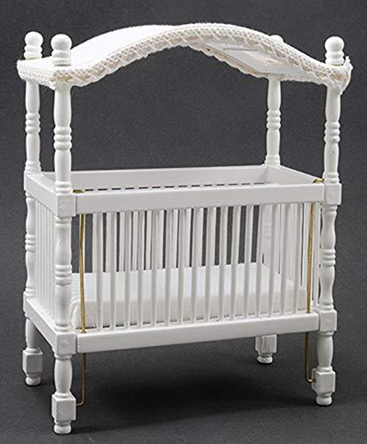 Handley House Dollhouse Miniature White Wood Canopy ()