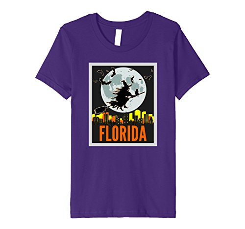 Kids PREMIUM Vintage Halloween FLORIDA Trick or Treat T-SHIRT 4 Purple