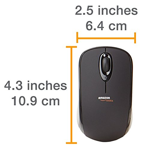 7bb609fcf8f AmazonBasics Wireless Mouse with Nano Receiver (MGR0975): Amazon.ca:  Computers & Tablets