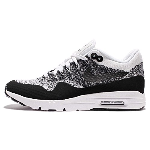 Nike Air Max 1 Ultra Flyknit Women's Running Shoes White/Black 843387-100 (5 B(M) US) (Nike Air Max 1 Ultra Flyknit Black)