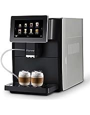 Hipresso Super-automatic Espresso Coffee Machine with Large 7 Inches HD TFT Touch screen for Brewing Americano, Cappuccino, Latte, Macchiato, Flat White, Espresso Drinks (Red Dot Winner 2020)