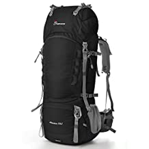 Mountaintop 75L-80L Internal Frame Backpack Hiking Backpack with Rain Cover-5820II