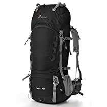 Mountaintop 55L-80L Internal Frame Backpack Hiking Backpack with Rain Cover
