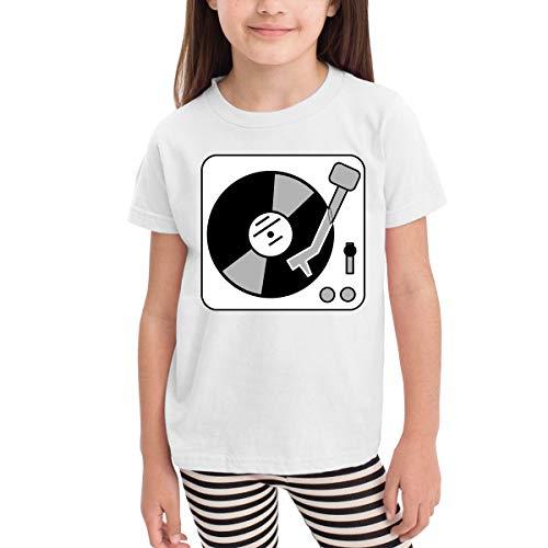 Marcus Roberta Turntable Music Vinyl Record Dj Kids T-Shirt Unisex Classic T-Shirt White 5/6T ()