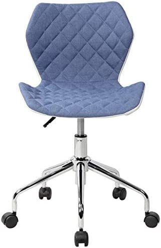 Techni Mobili Modern Height Adjustable Office Task Chair, Blue