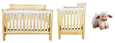 "Narrow CribWrap Crib Wrap 3PC Rail Cover Set By Trend Lab - 1- 51"" Front Rail Cover & 2- 27"" Side Rail Covers"