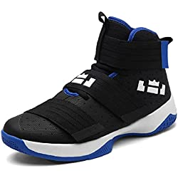 JiYe Men's Basketball Shoes for Women's Performance Sports Velcro Sneakers by