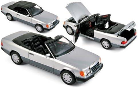 Mercedes A124 300 CE-24 Cabrio argent véhicule miniature 183565 Norev 1:18