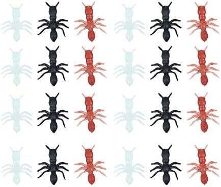 SUPVOX 50pcs Hormigas de simulación de Vacaciones Novedad Juguetes de Broma de plástico bromas Juguetes Hormigas realistas Accesorios de jardín para Fiesta de niños (Color Variado): Amazon.es: Hogar