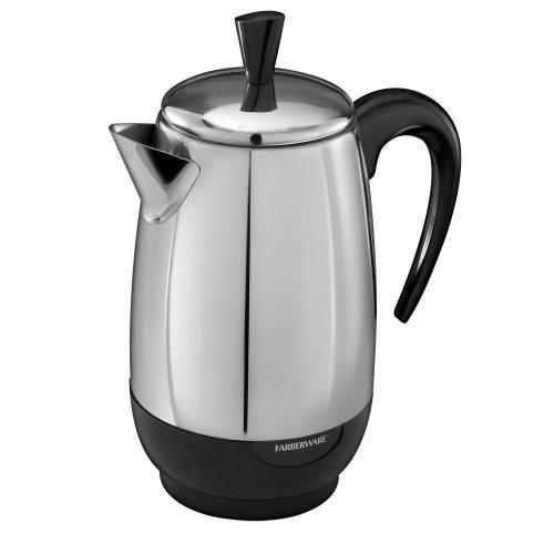 Farberware PK8000SS Coffee Percolator, Stainless Steel