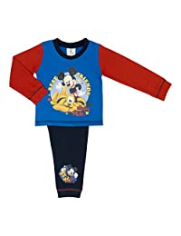 Boys Childs Disney Mickey Mouse Pyjama Set Various Mickey Mouse Designs and Size