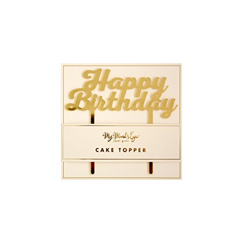 Price comparison product image My Mind's Eye PGB430 Basic Happy Birthday Cake Topper,  1 Cake Topper