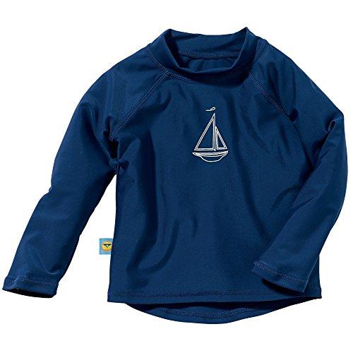 Long Sleeve Rash Guard Swim Shirt 24 Mo./2T Navy Blue ()