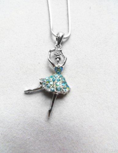 Accessory Silver - Plated Ballerina Pendant Necklace (Dance Costumes Russia)