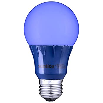 Sunlite Blue LED A19 Light Bulb (uses only 3 Watts!)
