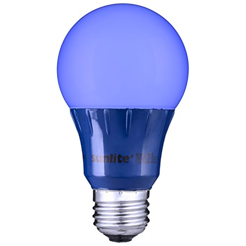 Sunlite Blue LED A19 Light Bulb (uses only 3 Watts!) (Blue Light Chandelier compare prices)