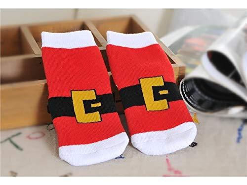 Gelaiken World Christmas 3 Pairs Children Cotton Socks Kids Autumn and Winter Christmas Terry Mid Tube Socks(Multicolor)