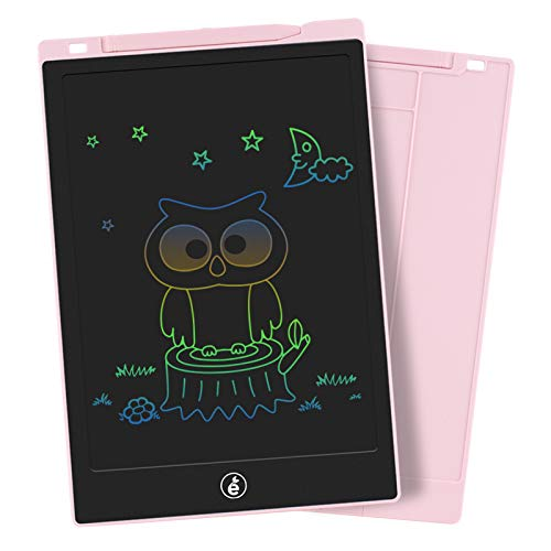 LCD Writing Tablet, Electronic Colorful Screen Drawing Board Kids Tablets Doodle Board Writing Pad for Kids at Home, School and Office (10 Inch, Pink)