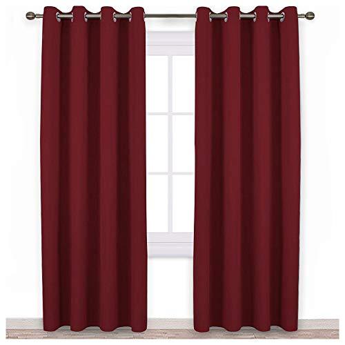 NICETOWN Burgundy Blackout Curtains