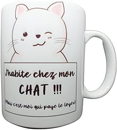 Mug/Tasse – J'habite chez mon …