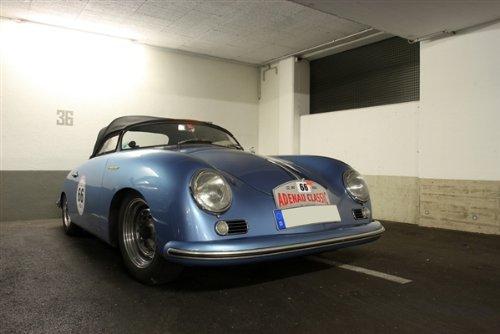 (Porsche 356 Speedster Blue Right Front HD Poster Classic Car Jumbo 48 X 32 Inch Print)