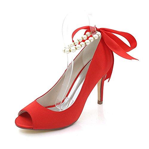 Talons De Et Chaussures Multicolore Personnalisé Red Robe Peep Soirée L yc Mariage Club Toe Hauts Sandales Femmes Sw6P5qx