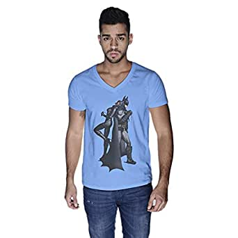 Creo Catwoman And Batman T-Shirt For Men - Xl, Blue