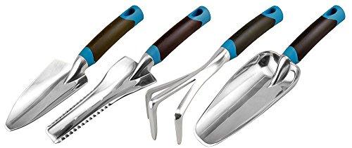 Radius Garden 31501 DIG 4-Piece Gardening Hand Tool Set, Blue
