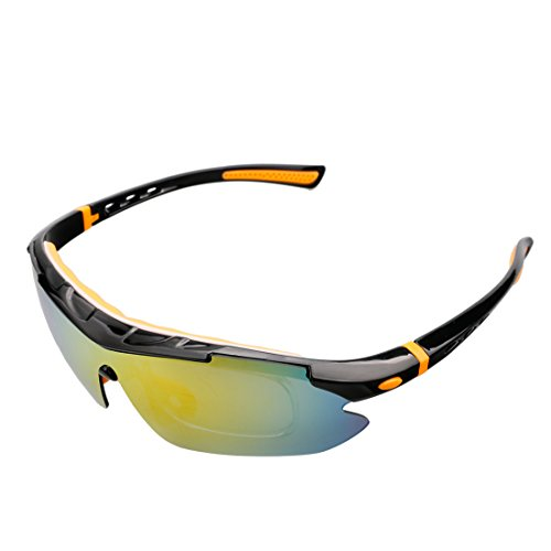 A-szcxtop 100% UV Protection Polarized Sunglasses for Outdoor sport Riding Driving Climbing Fishing Fashion Glasses with 5 Interchangeable Lenses for Men and Women