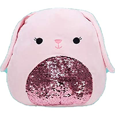 Squishmallow Kellytoy Easter 8 inch Bop The Pink Bunny Sequin Plush Doll: Toys & Games