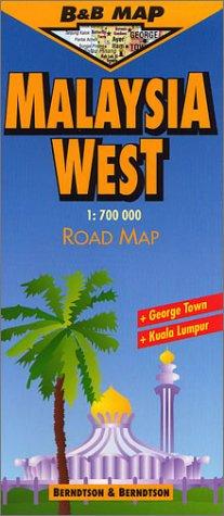 B&B Malaysia West Laminated Map (B&B Road Maps) (English, French, German, Italian and Spanish Edition)