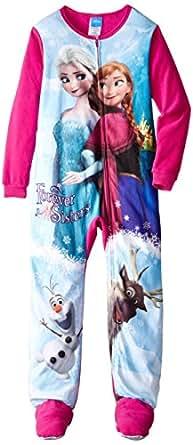 Little Girls'2-6X Frozen Elsa and Anna Blanket Sleeper Small