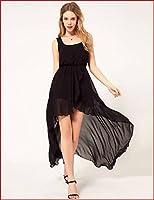 Black Flowing Chiffon Mermaid Dress