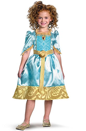 Brave Merida Classic Costume, Auqa/Gold, X-Small