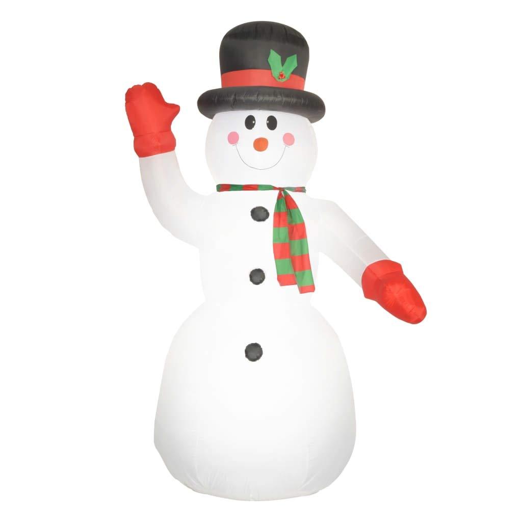 vidaXL Muñeco Nieve Decoración Navidad Inflable Luminoso LED ...