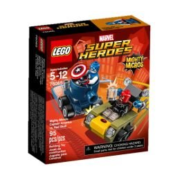 Lego Micro:Capt America/R Size Ea Lego Mighty Micro:Captain America Vs Red S 76065
