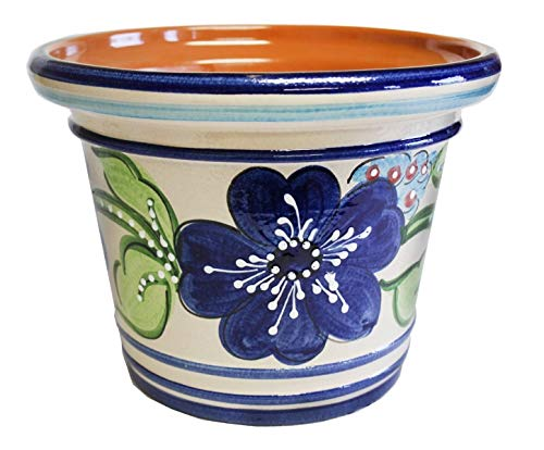 "Spanish Flower Pot, Planter, Garden 13.25""Dia x 10.25""h Palmera"