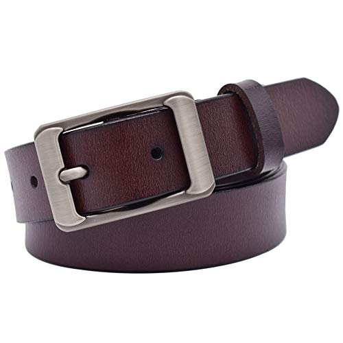 (Belts for Women, Vonsely Genuine Leather Belts for Women Waist Belt for Pants Shorts Jeans Dress (Coffee 2, Suit for waistline 37
