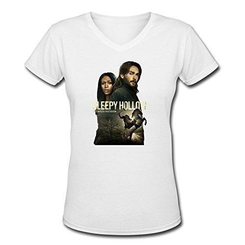 (Jiaso Women's Sleepy Hollow Season 2 2014 V-Neck Cotton Tshirts Large)