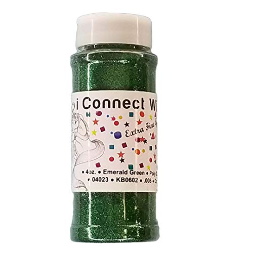 - Emerald Green, Extra Fine Poly Glitter 1/128, 4oz Shaker Bottle