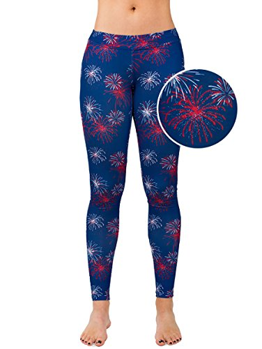 Tipsy Elves Women's USA Fireworks Leggings: XL ()