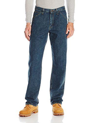 LEE Men's Dungarees Losse-Fit Carpenter Jean - 42W x 34L - Authentic Stone