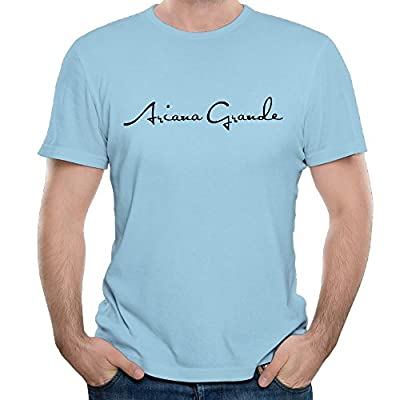 Lilian C. Pennell Men's Ariana Grande Logo Classic Tees Young Cool Tee SkyBlue