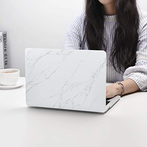 Case Star MacBook Pro 13 Inch Case 2019 2018 2017 2016 Release A1706 A1708 A1989 A2159 Ultra Thin Plastic Hard Sleeve Cover & Keyboard Cover & Anti-dust Brush-White Marble