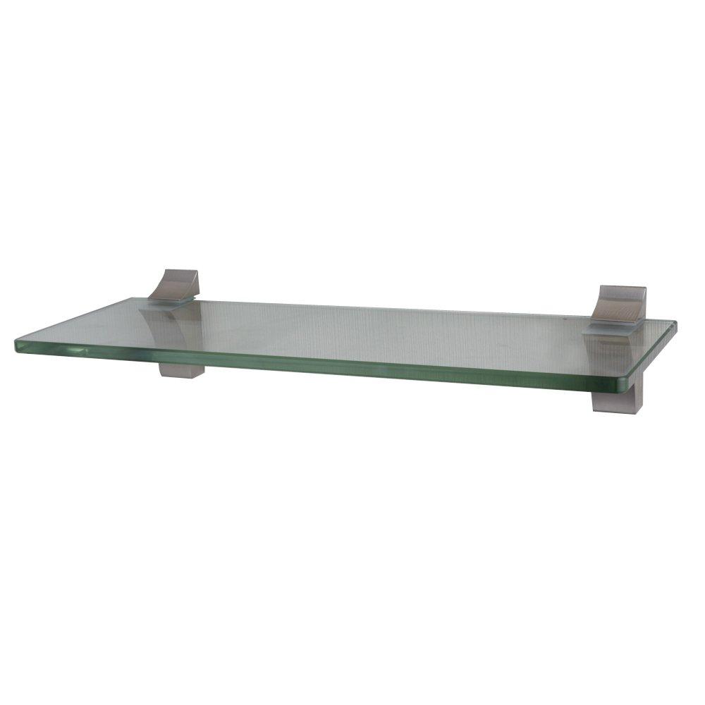 Modern Bathroom Glass Shelf Rack Organizer Wall Storage Brushed ...