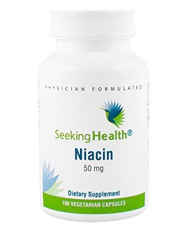Niacin | Provides 50 mg of Niacin in an easy-to-swallow vegetarian capsule | Vitamin B3 | Free of Magnesium Stearate | 100 Vegetarian Capsules | Non-GMO | Physician Formulated | Seeking Health